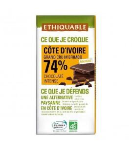 Chocolat Noir Grand Cru M'Brimbo 74% bio & équitable