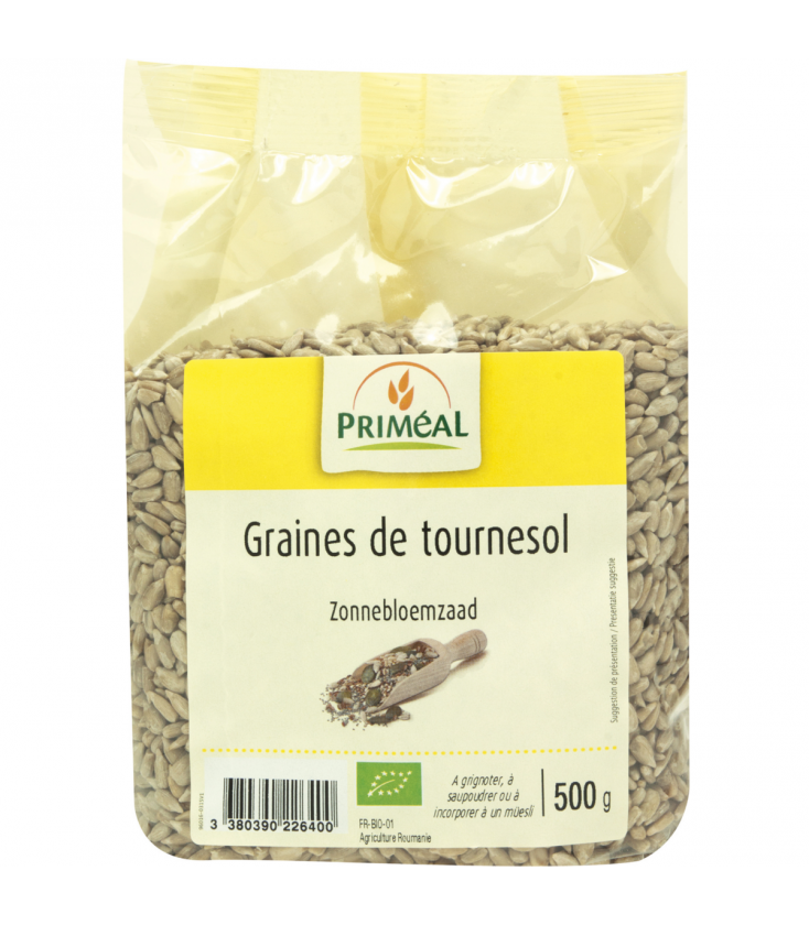 graines de tournesol bio 500 g primeal. Black Bedroom Furniture Sets. Home Design Ideas