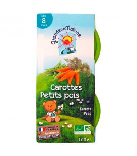 Purée de légumes carottes petits pois pour bébé bio