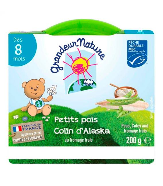 Petits pois & colin d'Alaska pour bébé