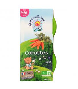 Purée de carottes pour bébé bio