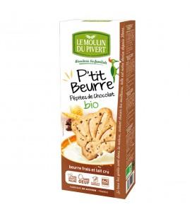 Biscuits P'tit beurre pépites de chocolat bio