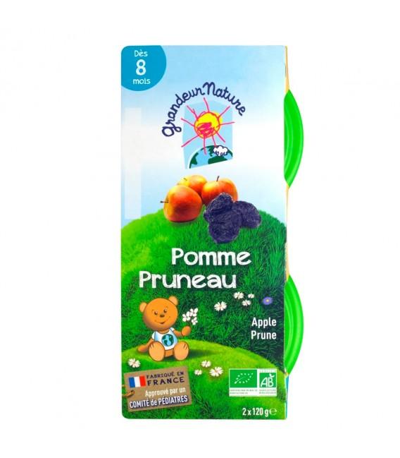 Purée de fruits pomme pruneau pour bébé bio