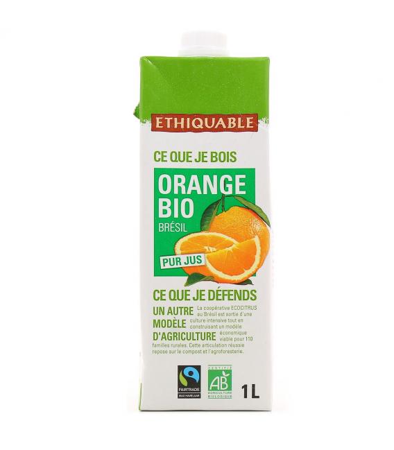 Pur jus d'orange bio & équitable