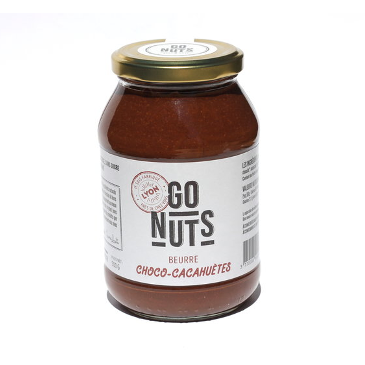 beurre choco cacahu tes bio 500 g go nuts. Black Bedroom Furniture Sets. Home Design Ideas