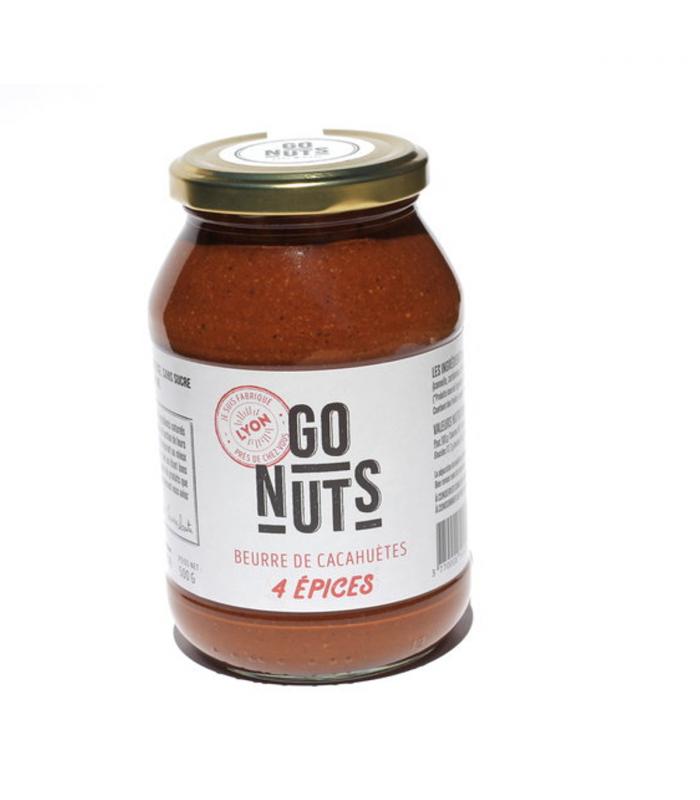 beurre de cacahu tes bio aux quatre pices 500 g go nuts. Black Bedroom Furniture Sets. Home Design Ideas