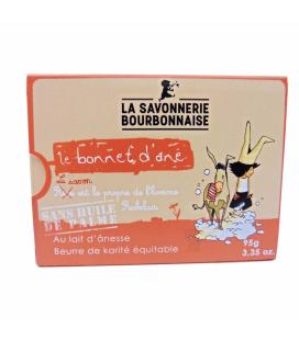 """Savon """"Le Bonnet d'Ane"""" au lait d'ânesse et beurre de karité 100% bio"""
