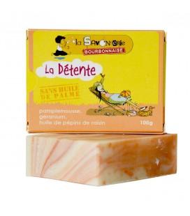 """Savon """"La Détente Pamplemousse"""" au pamplemousse, géranium & huile de pépins de raisin 100% bio"""