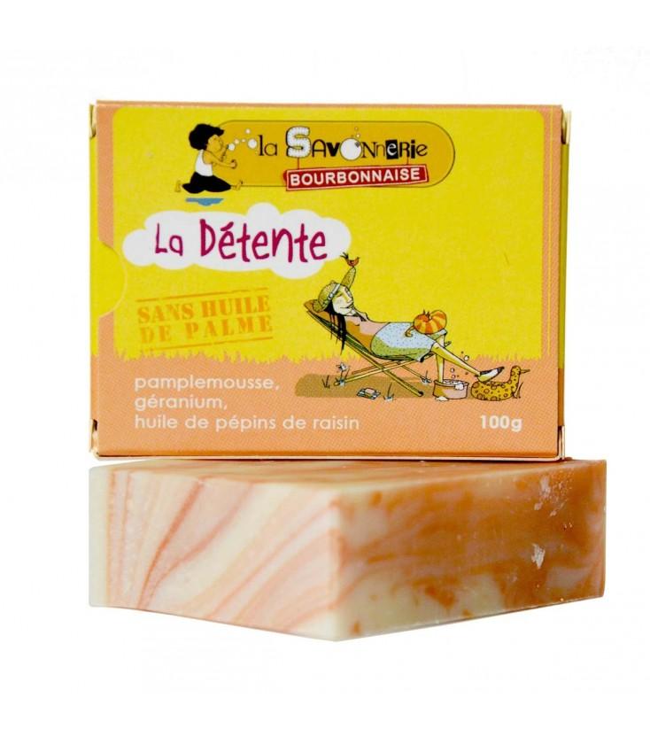 """Savon """"La Détente Pamplemousse"""" au pamplemousse, géranium & huile de pépins de raisin"""