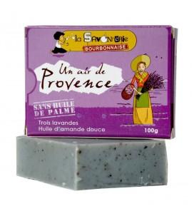 """Savon """"Un Air de Provence"""" aux trois lavandes & huile d'amande douce 100% bio"""