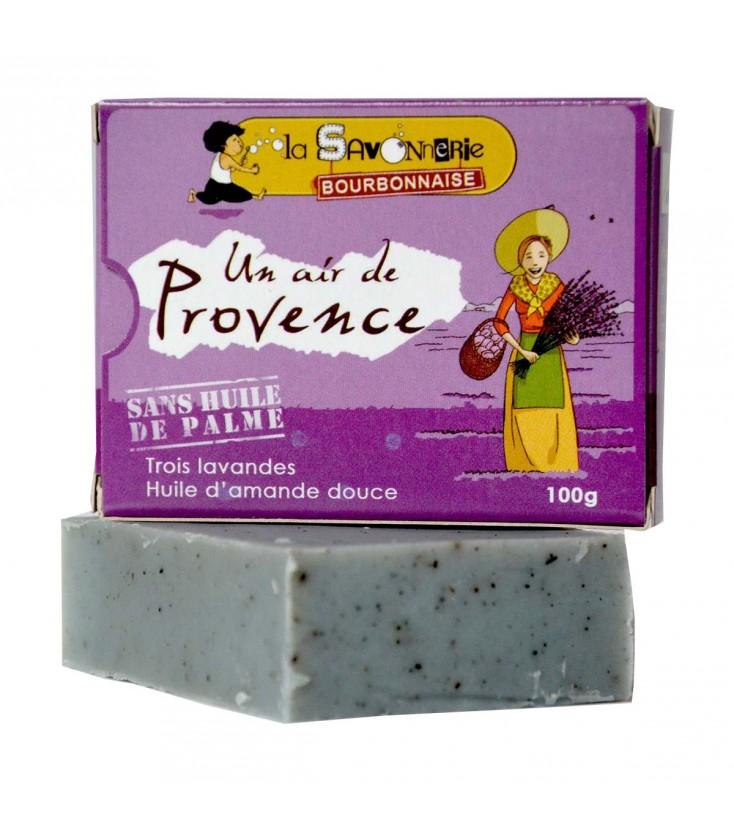 """Savon """"Un Air de Provence"""" aux trois lavandes & huile d'amande douce"""