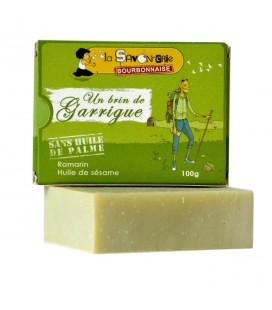 """Savon """"Un Brin de Garrigue"""" au romarin & huile de sésame 100% bio"""