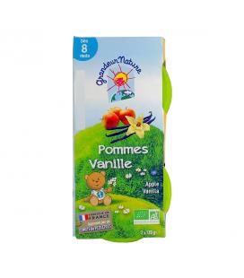 Purée de fruits pomme vanille pour bébé bio