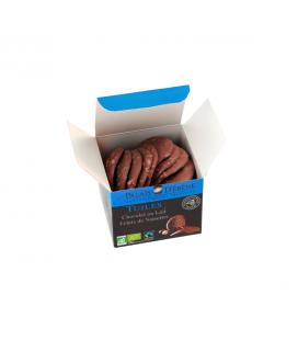 Tuiles au chocolat noir & éclats de noisette bio