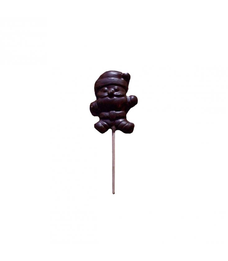 Sucette de chocolat noir Papa Noël