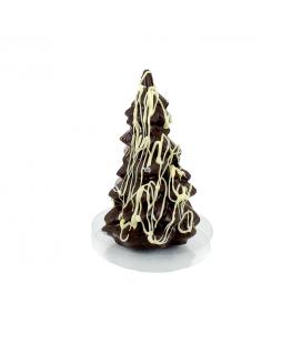 Sapin de Noël en chocolat noir bio