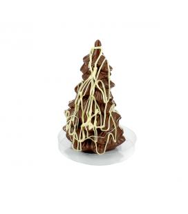 Sapin de Noël en chocolat au lait bio