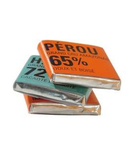 Carton de Napolitains Chocolats Noir 80% et 85% bio et équitable