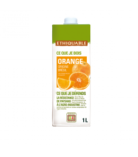 Pur jus d'orange bio & équitable