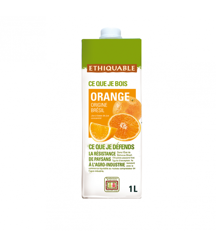Jus d'orange équitable