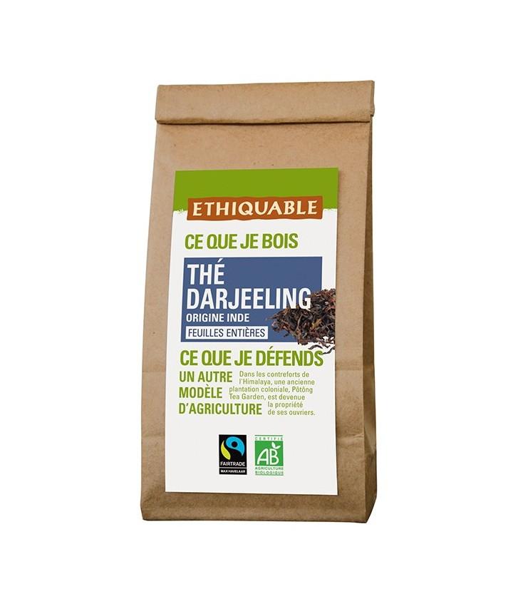 Thé Darjeeling feuilles entières bio & équitable