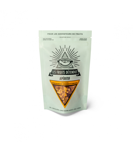 Crackers mûre blanche et amande bio, cru & vegan
