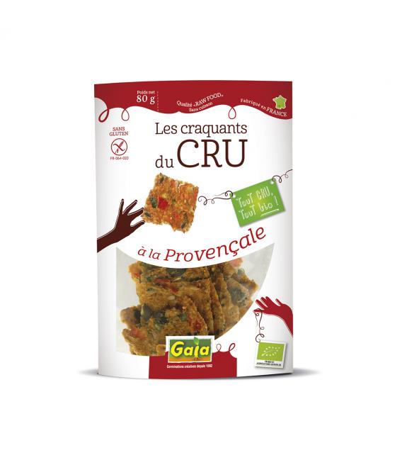 Craquant à la Provençale sans gluten, cru & bio