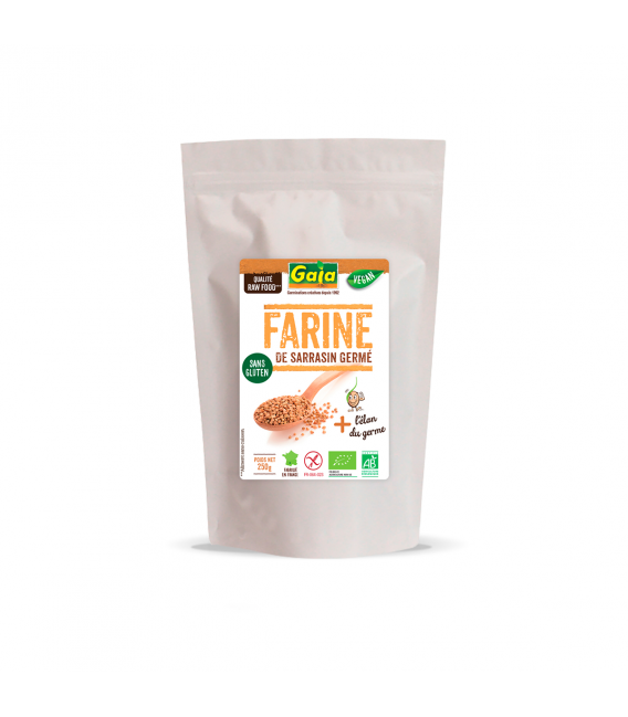Farine de sarrasin germé sans gluten & bio