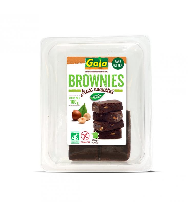 Brownies aux noisettes sans gluten, vegan & bio