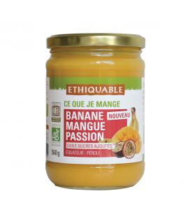 Purée banane, mangue & passion bio et équitable