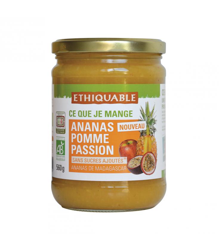 Purée ananas, pomme & passion bio et équitable