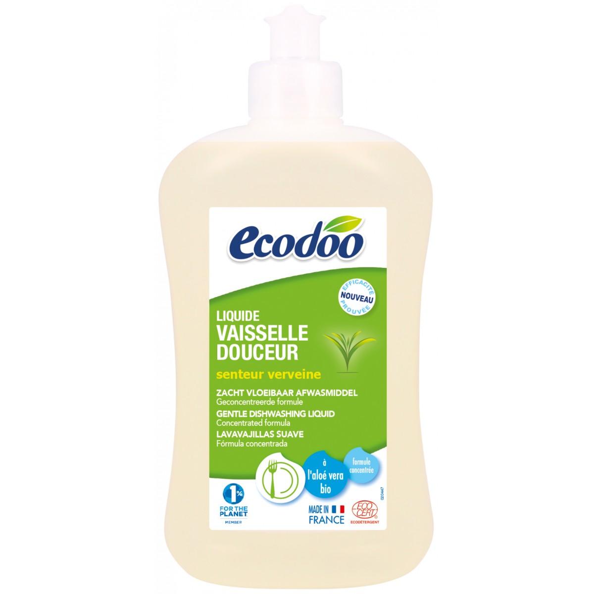 liquide vaisselle douceur cologique bio 500 ml 500 ml ecodoo. Black Bedroom Furniture Sets. Home Design Ideas