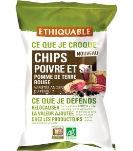 Chips Poivre et Sel de Pomme de Terre Rouge - bio & équitable