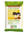 Carré à croquer au chocolat au lait amande et pétale de céréales bio & équitable