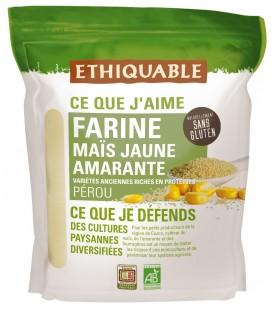 DATE DÉPASSÉE - Farine de maïs jaune et amarante - natrellement sans gluten, bio & équitable