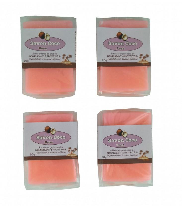 Mini savons d'invités rose