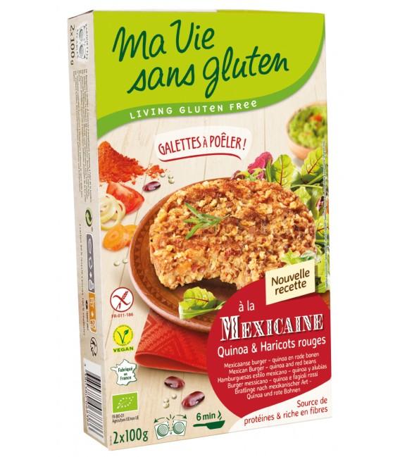 Galettes Quinoa & haricots rouges bio & sans gluten
