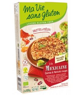 Galette à poêler à la Mexicaine - Quinoa et Haricots rouges Bio & sans gluten