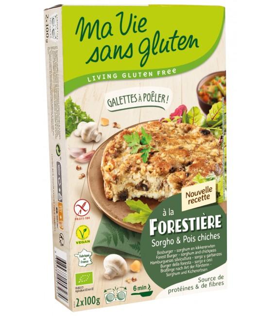 Galettes bio Champignons & pois chiches bio & sans gluten