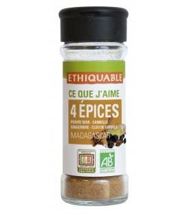 4 épices en poudre bio & équitable