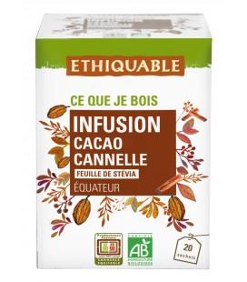 Infusion Cacao, Canelle et feuille de Stévia bio & équitable