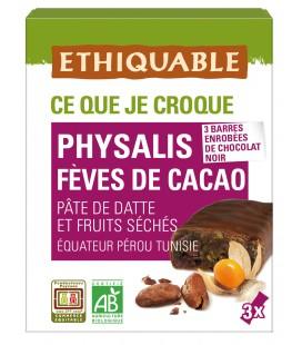 Barres physalis fève de cacao bio & équitable