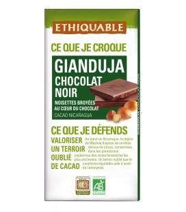 Chocolat noir Gianduja avec noisettes broyées bio & équitable