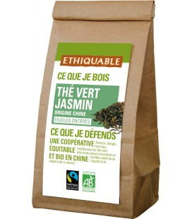 Thé vert jasmin obio et équitable