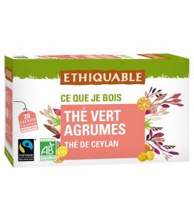 Thé vert au agrumes