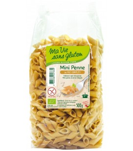 Mini penne bio au riz demi-complet bio & sans gluten