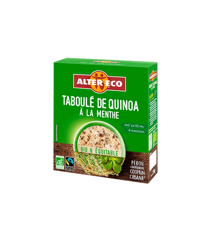 taboulé de quinoa à la menthe bio & équitable