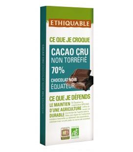 Chocolat Noir non torréfié 70% bio & équitable