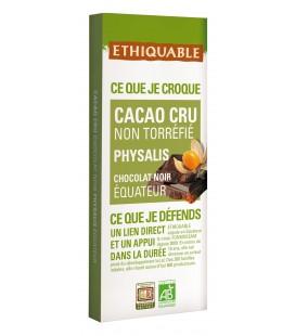 Chocolat Noir non torréfié physalis bio & équitable