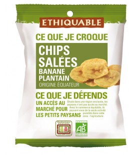 Chips SALEES Banane Plantain bio & équitable